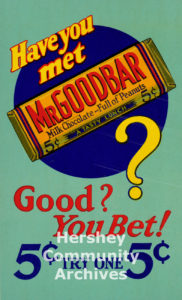Mr. Goodbar in-store advertisement, ca. 1930