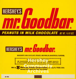 Mr. Goodbar wrapper, ca. 1970