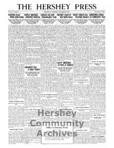 Hershey Press, December 30, 1915