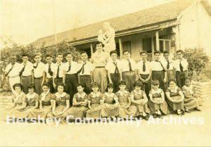 Central Hershey Elementary School, 4th grade class portrait, 1954-1955