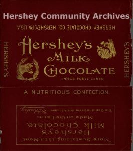 Hershey's Milk Chocolate bar wrapper, 1902-1903
