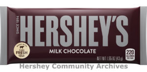 Hershey's Milk Chocolate bar wrapper, 2017