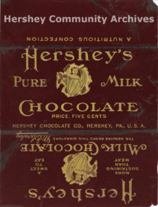 Hershey's Milk Chocolate bar wrapper, 1903-1906