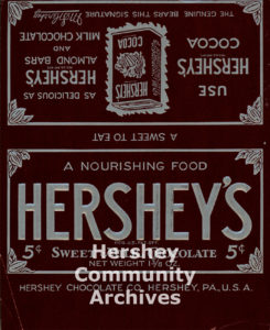 Hershey's Milk Chocolate bar wrapper, 1912-1926