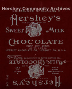 Hershey's Milk Chocolate bar wrapper, 1906-1911