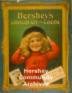 Milton Hershey introduced Hershey's Milk Chocolate in 1900. Hershey's Chocolate advertisement, ca. 1900