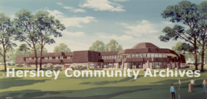 In 1970 a new clubhouse was built along East Derry Road. Artist's rendering, 1967
