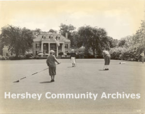 High Point Mansion served as the clubhouse for Hershey Country Club from 1930-1970. Photograph, 1933