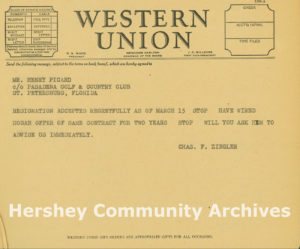 Western Union Telegraph regarding Ben Hogan, 1941