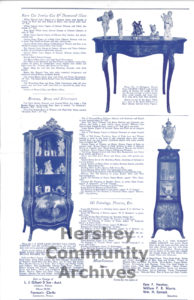 M.S. Hershey Estate Auction flier, reverse side, December 17 and 18, 1945