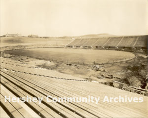 Hershey Stadium was the last major project of the Great Building Campaign. It was completed in Spring 1939.