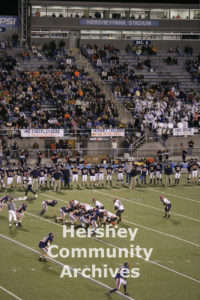Each fall, Hershey High School's varsity football team can be found at the Stadium. November 2, 2007