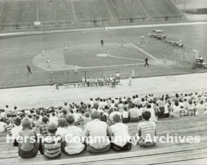 A wide range of sporting events have been held at the Stadium, including Little League baseball games. ca. 1950-1970