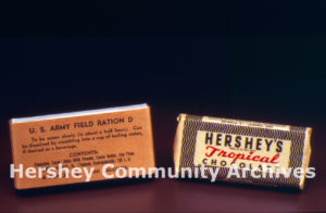 Ration D bar and Tropical Chocolate bar, ca. 1942-1944