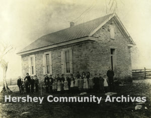 Greiner School, a one-room school in Derry Township, PA, ca. 1900