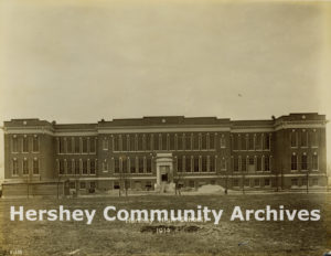 Constructing the M.S. Hershey Consolidated School Building, 1914