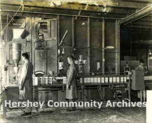 Hershey's soap products were manufactured on the second floor of the Abbatoir building. Photograph, ca. 1939-1945