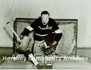 Hershey Bears goalie, Gordon 'Red' Henry, ca. 1946-1955