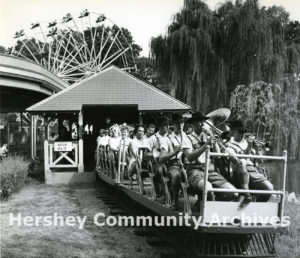 Pennsylvania German Band on route to the Hershey Park Bandstand, 1960
