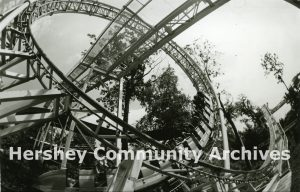 Riding the loop of the sooperdooperLooper, ca. 1990-2000