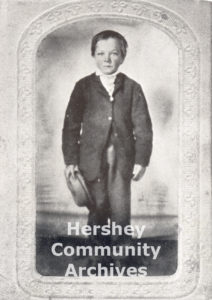 Milton Hershey as a seven year old boy, 1864