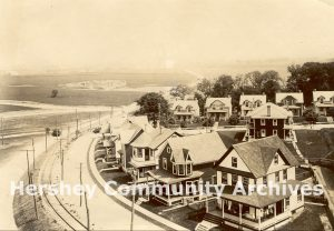 Homestead Road is to the left of Java Avenue, seen here just left of the houses. ca. 1910-1913