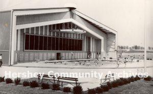 Cocoa Avenue Plaza swimming pool, ca. 1965