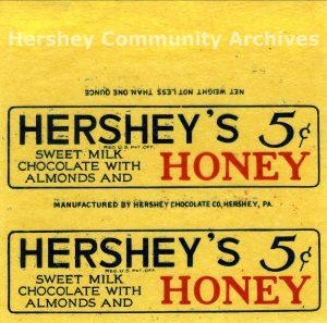 Hershey's HONEY Bar, 1927-1930