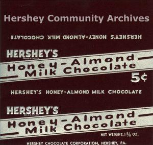 Hershey's Honey-Almond Milk Chocolate, ca. 1935- August 1939