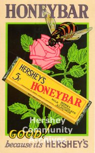 Hershey Chocolate used point of purchase placards to market its products in stores. ca. 1933-1936
