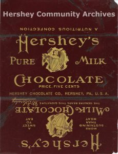 Hershey's Milk Chocolate bar wrapper, designed by Ketterlinus Lithographic Manufacturing Company, 1903