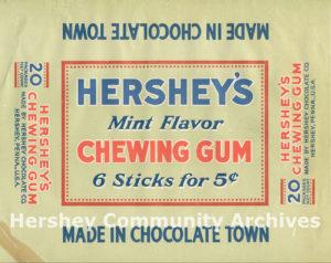 Box label; Hershey's Chewing Gum, ca. 1916-1924