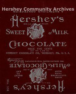 Hershey's Milk Chocolate bar wrapper, ca. 1906-1911