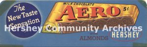 Hershey Chocolate acquired the rights to manufacture and market the Aero bar in the United States from the Rowntree Company in 1934.