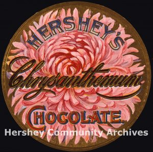 Hershey Chocolate Chrysanthemums box, ca. 1895-1909