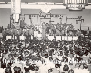 Harry James and band perform at Hershey Park Ballroom, July 25, 1945