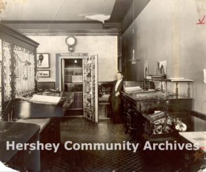 Hershey Trust Company, first office located in Cocoa House, ca. 1905