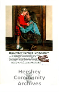 Remember your first Hershey Bar? Print advertisement, 1980