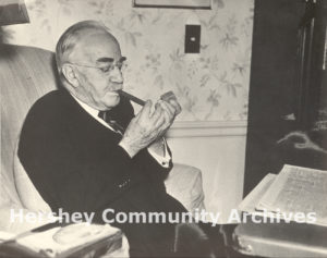 Milton Hershey in his High Point apartment, May 23, 1937