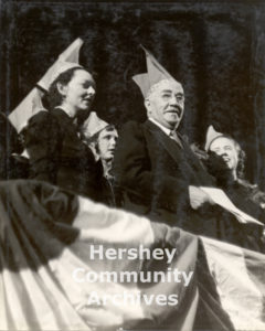 Milton Hershey celebrated his 80th birthday with a community-wide celebration held in the Hershey Arena on September 13, 1937.