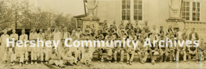 Group portrait, Hershey Community Building construction crew, 1932