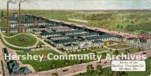 Hershey Chocolate factory, birds-eye view, ca. 1909