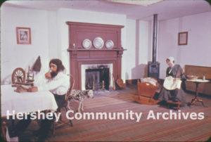 Pennsylvania German living room exhibit at the Hershey Museum, 1950-1959