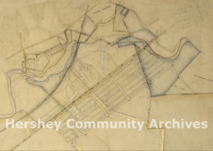 Map of Milton Hershey's land purchases in Derry Township, ca. 1903-1904