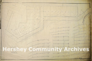 Topographical map of future Trinidad Avenue housing construction, July, 1903