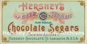 Hershey's Petit Bouquets Chocolate Segars, 1896-1900