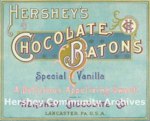 Hershey's Chocolate Batons, ca. 1896-1909