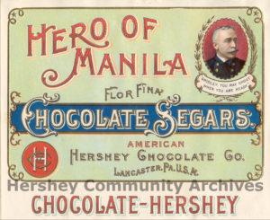 Hero of Manila Chocolate Segars, ca. 1898