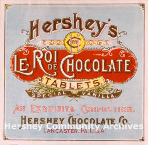 Hershey's Le Roi Chocolate Tablets, ca. 1896-1909
