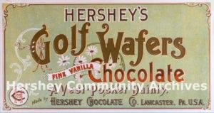 Hershey's Golf Wafers, ca. 1895-1905
